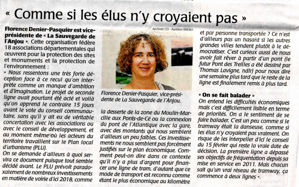 Courrier de l'ouest _interview Florence